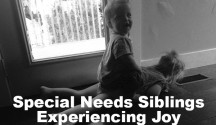 special needs siblings experessing joy